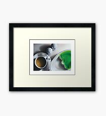 Lime Jello and Coffee Framed Print