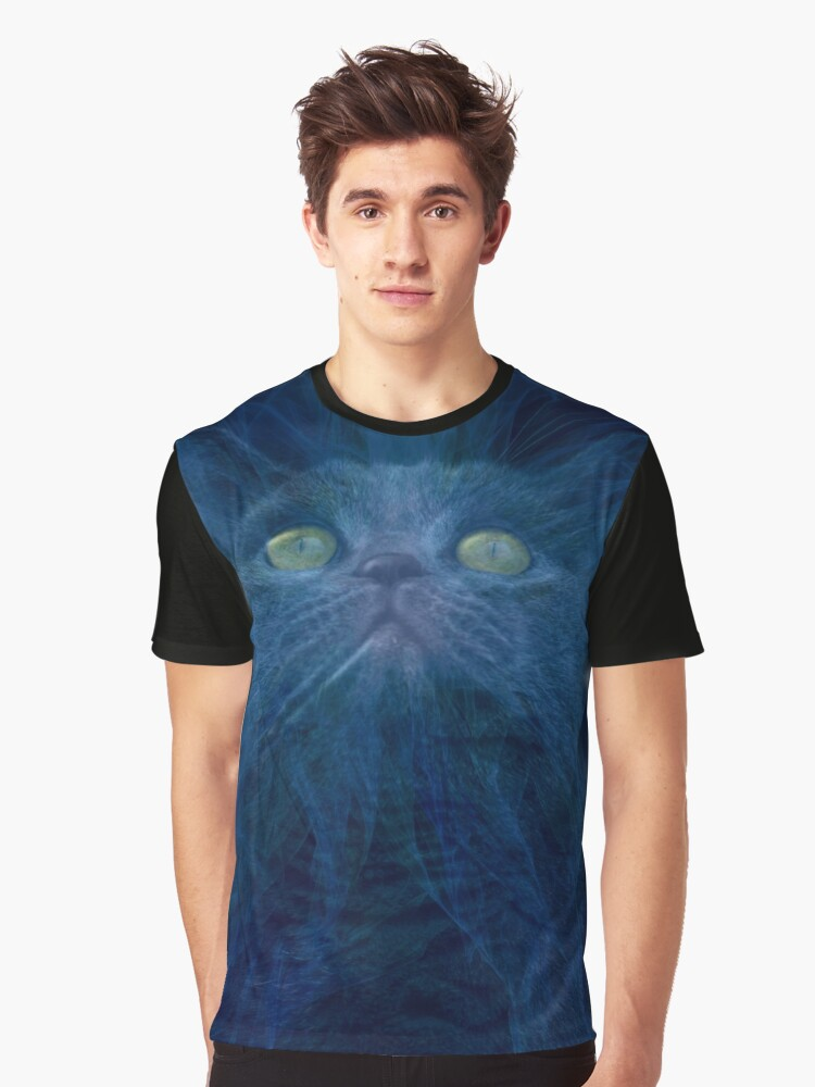 Angelic cat Graphic T-Shirt Front
