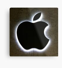 Apple Store Logo Metallbild