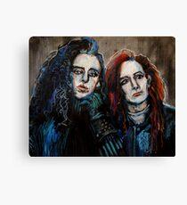 Pete Burns & Steve Coy portrait  Canvas Print