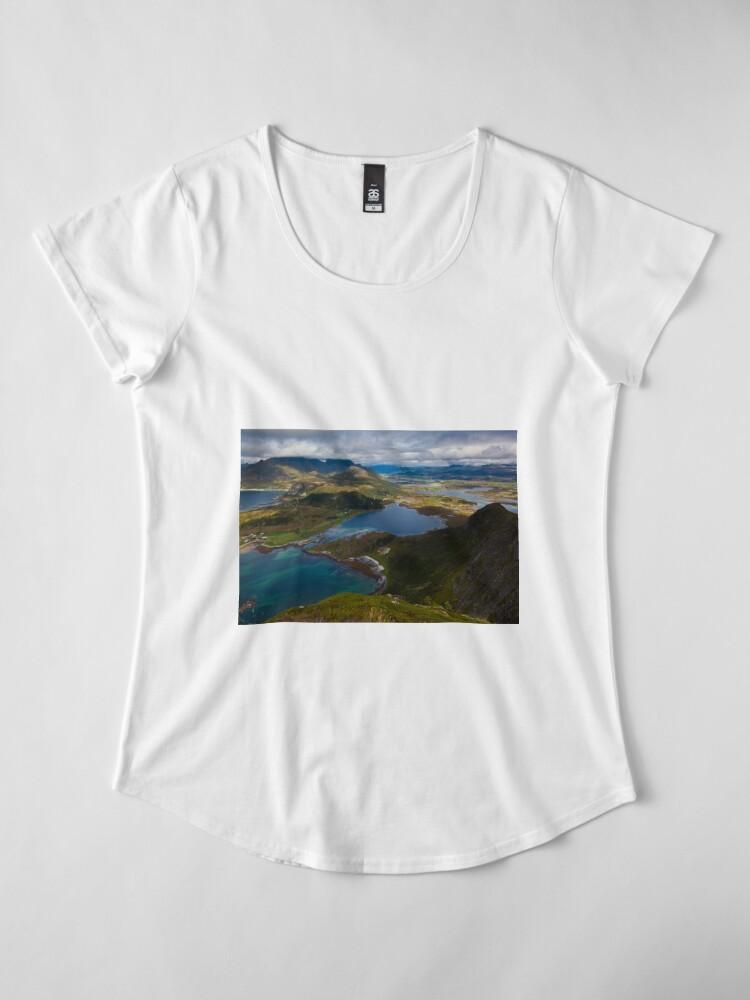 Alternate view of Landscape of Norway (2 of 3) Premium Scoop T-Shirt