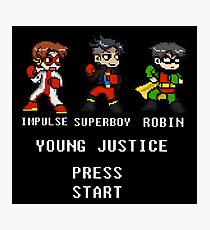 young justice go! Black Photographic Print