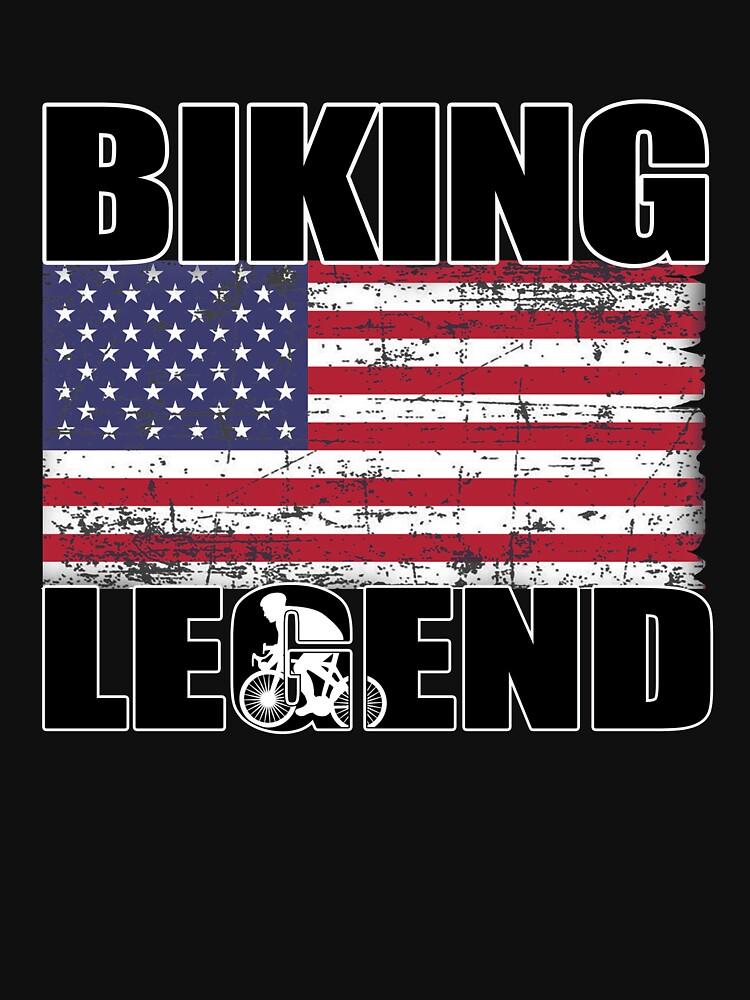 Biking Legend Sports Cycling, Bicycling, Athletic T Shirt by techman516