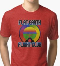 Flat Earth Designs - Flat Earth Flight Club Tri-blend T-Shirt