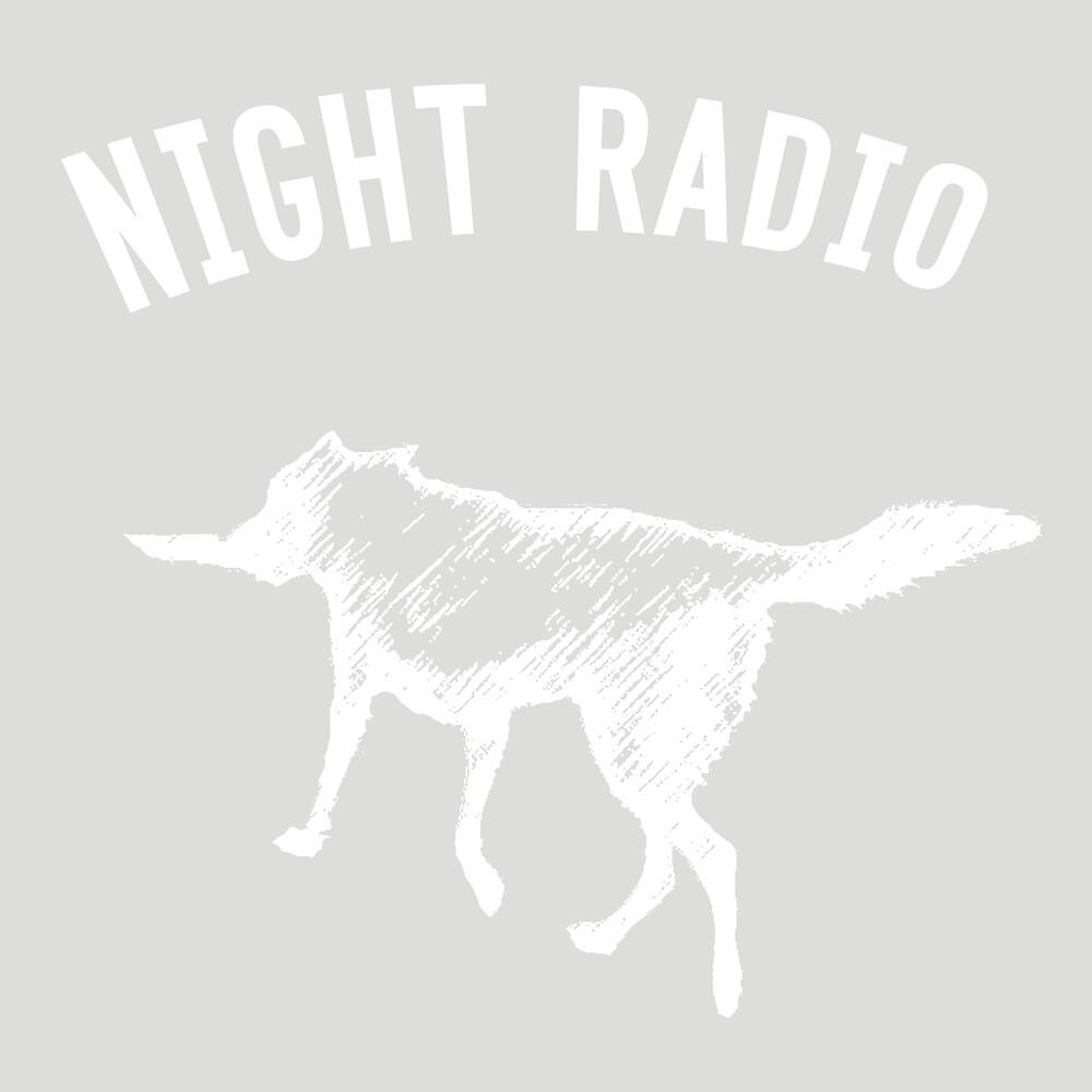 Night Radio Dog, white. by nightradio