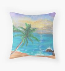 Some beach, somewhere Throw Pillow