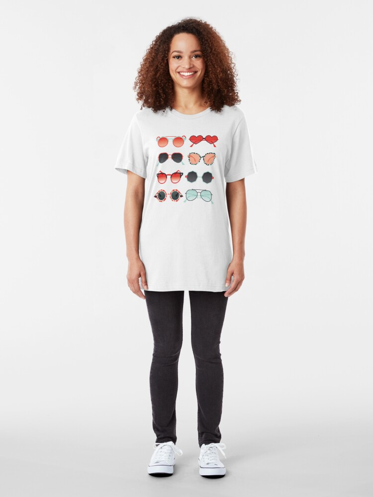 Alternate view of Sunglasses Collection – Red & Mint Palette Slim Fit T-Shirt