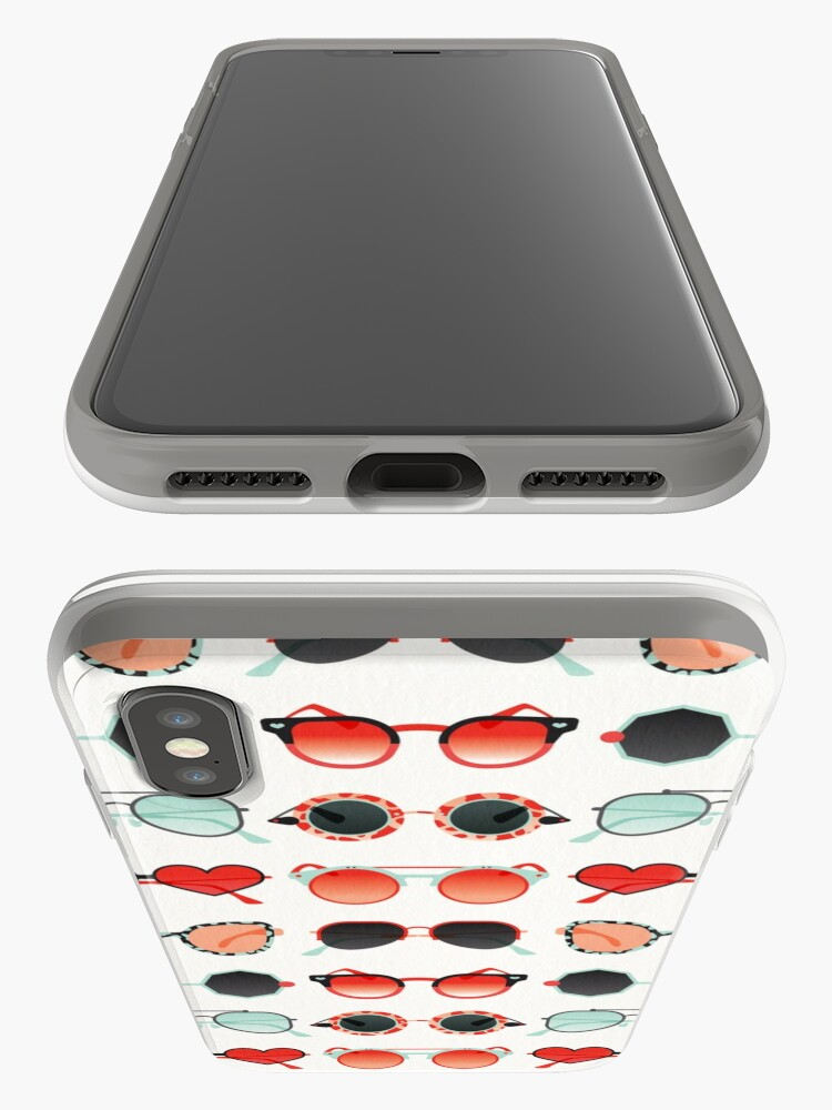 Alternate view of Sunglasses Collection – Red & Mint Palette iPhone Case & Cover