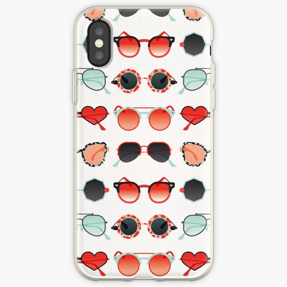Sunglasses Collection – Red & Mint Palette iPhone Case & Cover