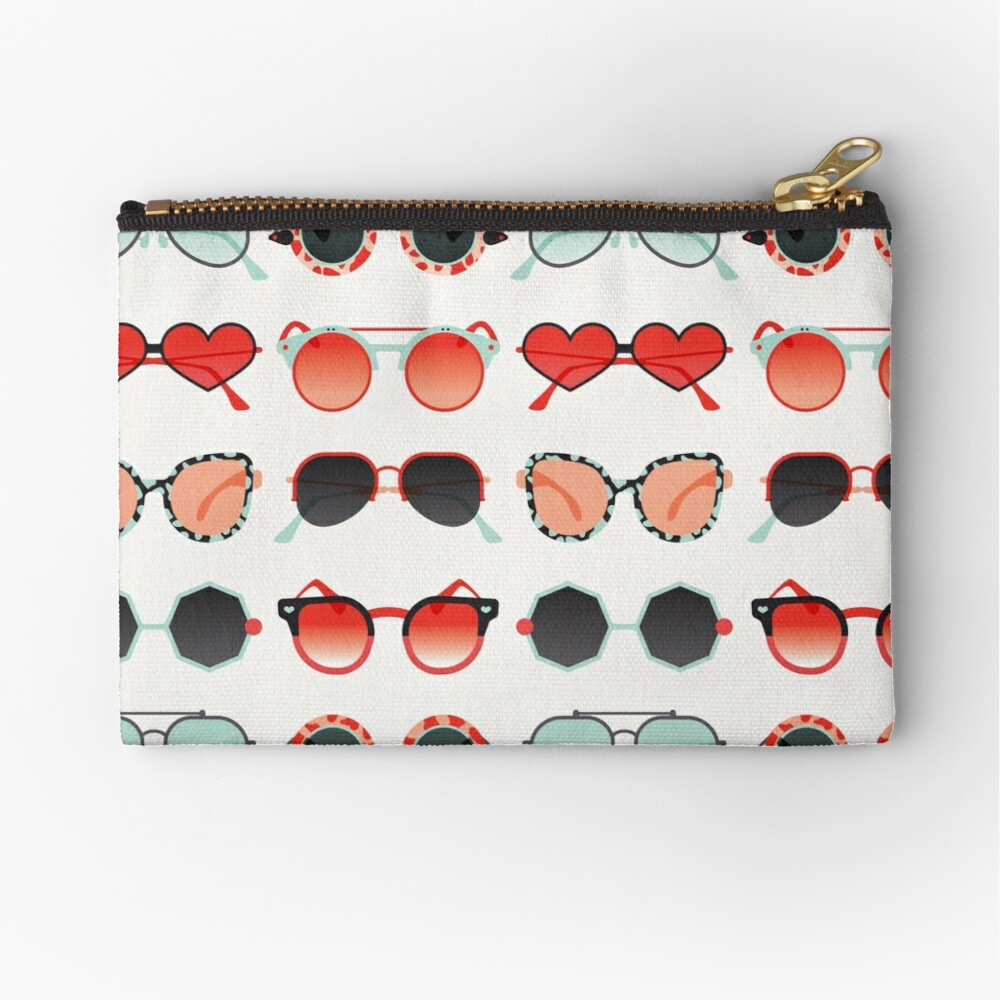 Sunglasses Collection – Red & Mint Palette Zipper Pouch