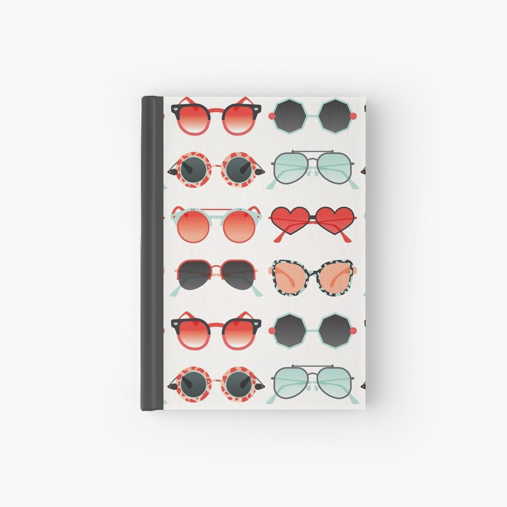 Sunglasses Collection – Red & Mint Palette Hardcover Journal