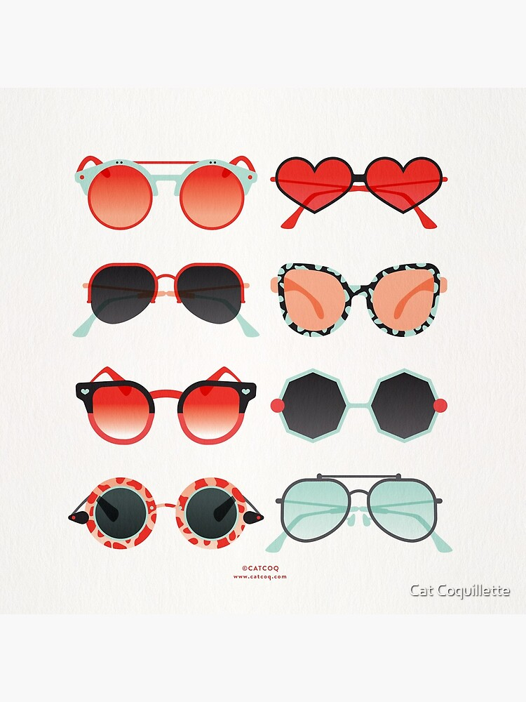 Sunglasses Collection – Red & Mint Palette by catcoq