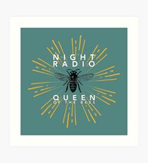 Queen of the Bees - White Text Art Print