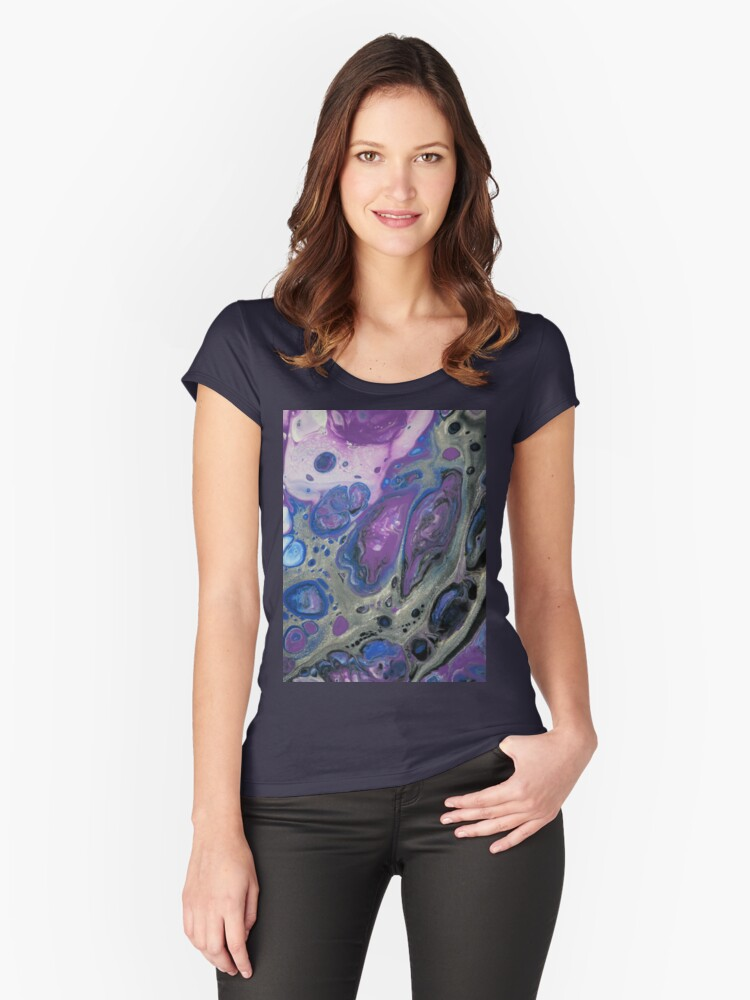 Silver Sliver Women's Fitted Scoop T-Shirt Front
