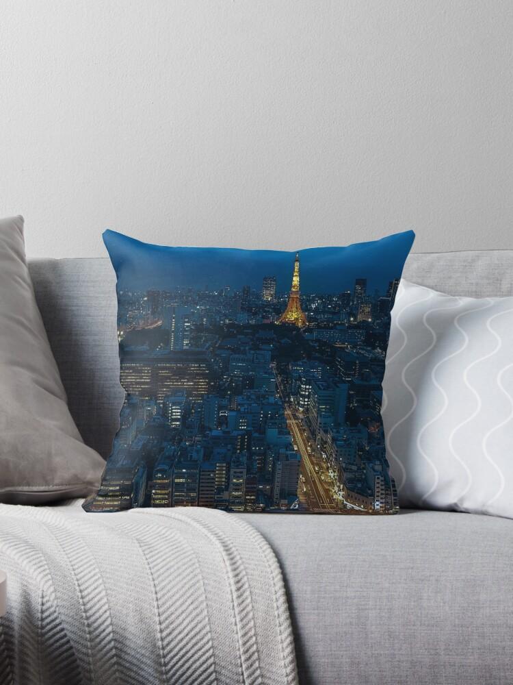 Tokyo Night Skyline by prodesigner2