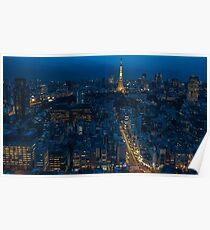 Tokyo Night Skyline Poster