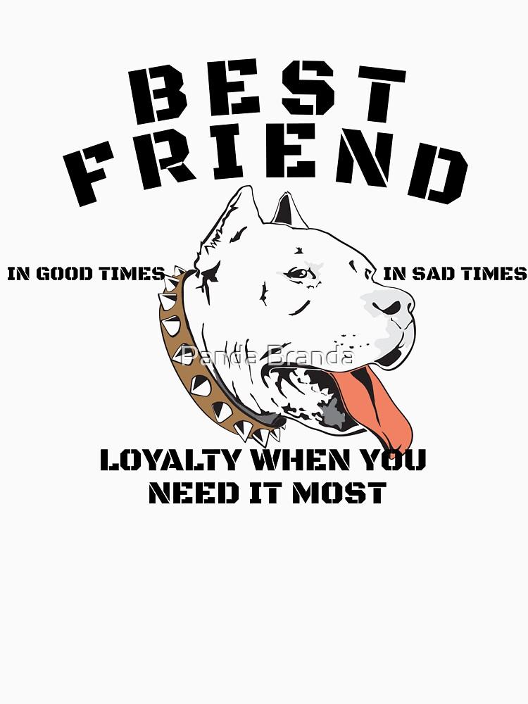 Pitbull Best Friend Art Design by CrusaderStore