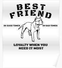 Best Friend Pit Bull Art Design Poster