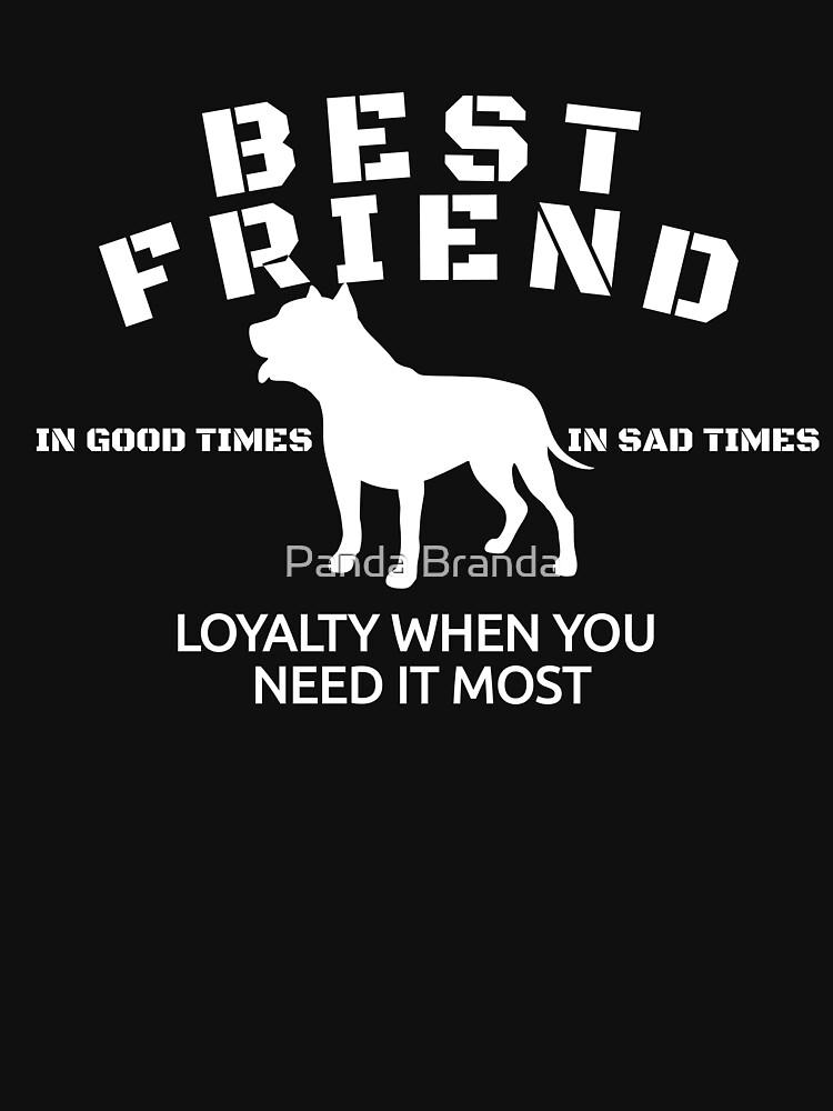 Best Friend Pit Bull Art Design by CrusaderStore