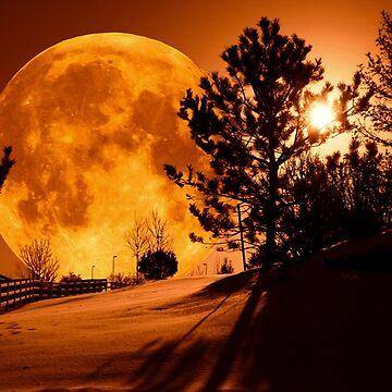 Moonrise in Denver by TinaCruzArt1