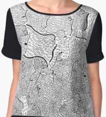 The Little Mermaid by Yayoi Kusama: A Fairy Tale of Infinity and Love Forever Women's Chiffon Top