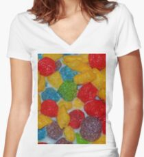 Tasty Cereal Women's Fitted V-Neck T-Shirt