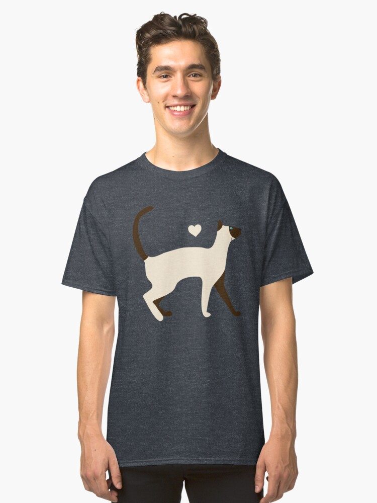 Siamese Cat Classic T-Shirt Front