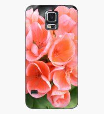 Peach Geraniums Hülle & Klebefolie für Samsung Galaxy