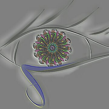 Embossed Eye by TinaCruzArt1