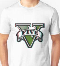 Gta V Logo 3D Style T-Shirt