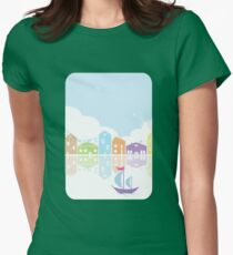 Dreamy landscape t-shirt Womens Fitted T-Shirt