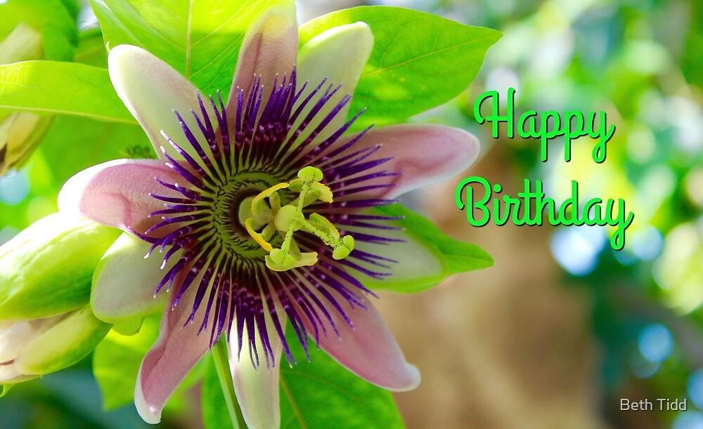 Happy Birthday flower by Beth Tidd