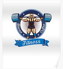 Bacon Coffee Fitness Art Design Poster