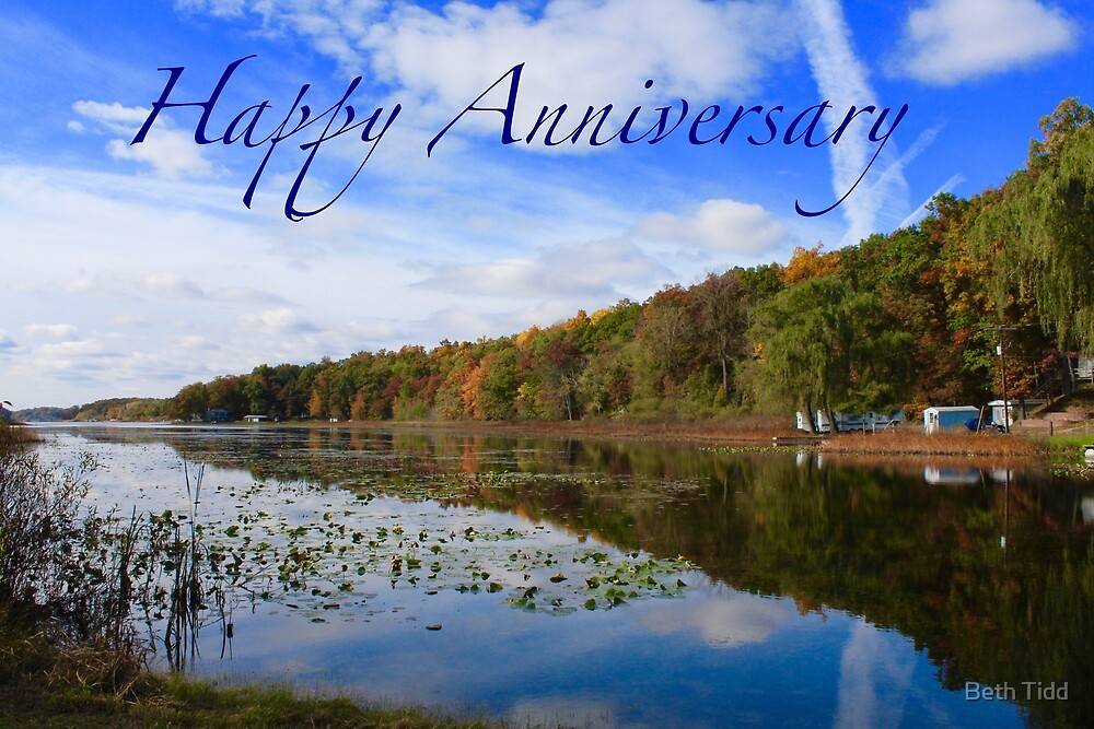 Happy Anniversary lakeside by Beth Tidd