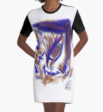 Watching in Broncos colors Graphic T-Shirt Dress
