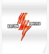 Bacon Power Lightening Art Design Poster