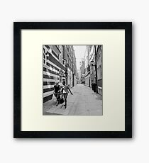 Black and White Ladies & architecture Framed Print