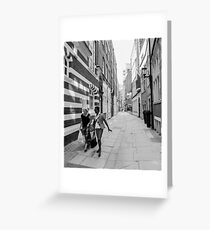 Black and White Ladies & architecture Greeting Card