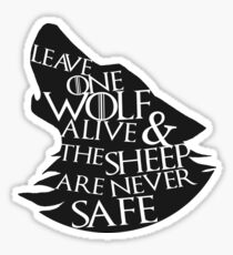 One Wolf Sticker