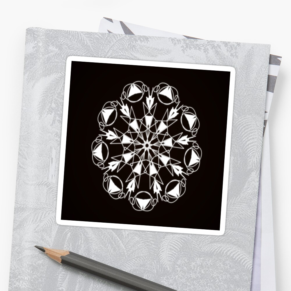 Black and White Mandala | Groove Thang by Iskybibblle