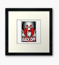 Back Off To The 80s Framed Print