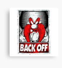 Back Off To The 80s Canvas Print