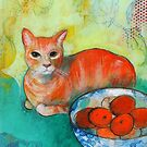 Oranges On The Table by Maria Pace-Wynters