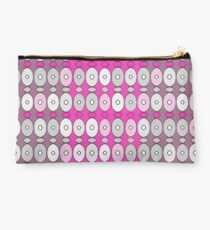 Pretty in Pink and Gray - Cute, feminine pattern Studio Pouch