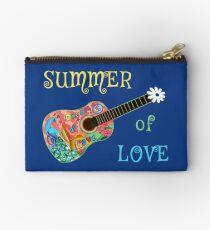 Summer of Love Hippie Peacock Guitar  Studio Pouch