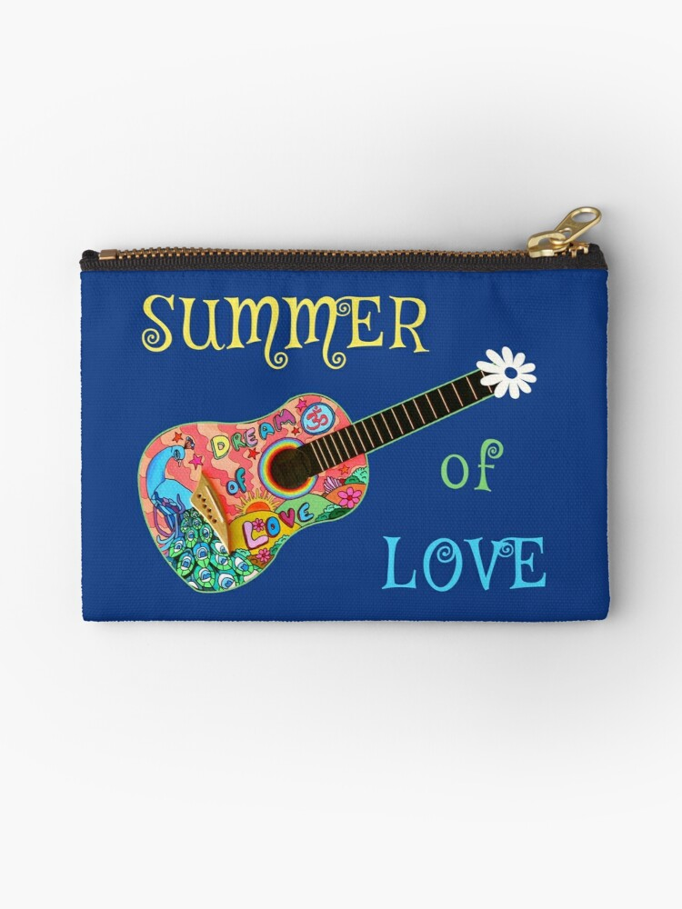 Summer of Love Hippie Peacock Guitar  by transferarts