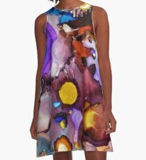 ABSTRACT ALCOHOL INK A-Line Dress