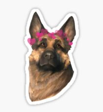 dogmeat with hearts Sticker