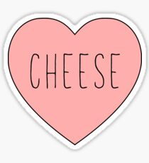 I Love Cheese Pink Heart  |Yellow Variant Sticker