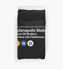 Indianapolis Pro Sports Subway Sign Duvet Cover